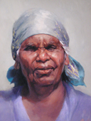 Nancy Junoth Petyarr by Jan Williamson, Archibald finalist